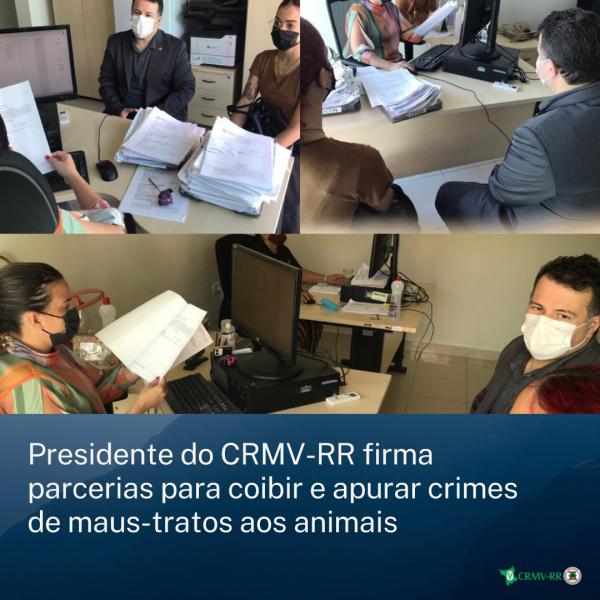 Presidente do CRMV-RR firma parcerias para coibir e apurar crimes de maus-tratos aos animais